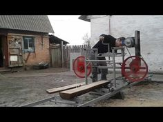 sawmill with own hands at home: 14 thousand images found in Yandex. Le Moulin, Youtube, Image, Yandex, Wood, Cards, Portable Saw Mill, Wheels, Woodwind Instrument