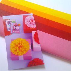 Papel de seda, rosa a amarillo