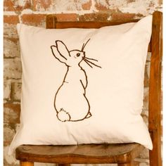 """Boo"" cushion by Belle & Boo. Lovely illustrations to match."