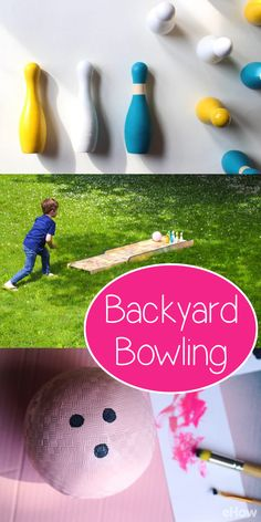 Turn your backyard into the perfect little bowling alley! The kid's (and let's be real, the adults too) will love this! DIY steps here: http://www.ehow.com/how_6185138_build-own-bowling-alley-home.html?utm_source=pinterest.com&utm_medium=referral&utm_content=freestyle&utm_campaign=fanpage