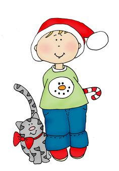 Free Dearie Dolls Digi Stamps Snowing At My House So Here Is A Little Snowman For Today I Loved Reading All Of Your Cat Stories And Christ
