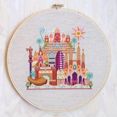 Pretty Little Barcelona - Modern cross stitch pattern PDF - Instant download (6.00 USD) by SatsumaStreet