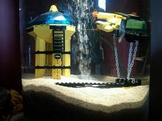 Lego Fish Tank Model: Underwater Port, via Flickr.