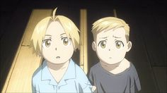 Edward & Alphonse Elric when they were little