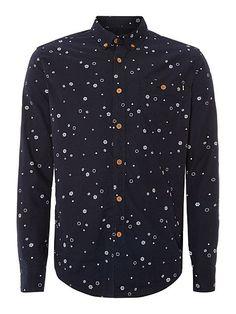 Amberley Snowflake Print Shirt