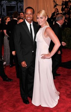 """Tiger Woods and Lindsay Vonn attend the Costume Institute Gala for the """"PUNK: Chaos to Couture"""" exhibition at the Metropolitan Museum of Art in May."""