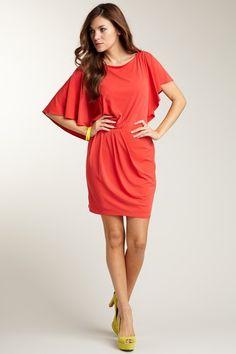 red-coral dress: hautelook