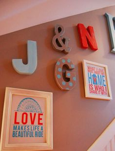 Family initials. Cute staircase decor.ii do plan to incorporate this in my future home