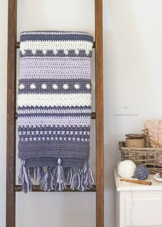 Winter Tempest Blanket - Free Crochet Pattern by Hopeful Honey
