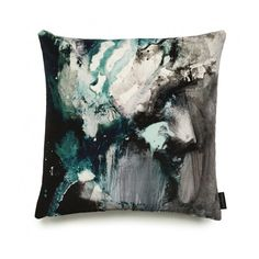 17 Patterns Nebulous Velvet Cushion (£135) ❤ liked on Polyvore featuring home, home decor, throw pillows, paris throw pillows, british home decor, velvet accent pillows, paris france home decor and patterned throw pillows