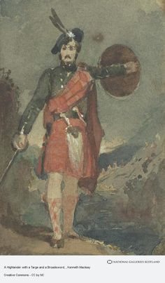 A Highlander with a Targe and a Broadsword West Coast Scotland, Gallery Of Modern Art, Scotland Castles, National Portrait Gallery, Make A Donation, Galleries, Celtic, Artist, Artwork