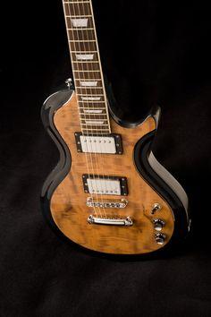 Occhineri Guitars Birds Eye Maple Black