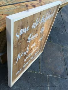 DIY handpainted sign without using vinyl cutting machine
