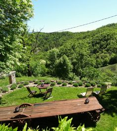 View from the balcony ... Agriturismo Verdita - Holiday apartments with jacuzzi in the garden - on the border Piemonte / Liguria (Italy) - www.verdita.com