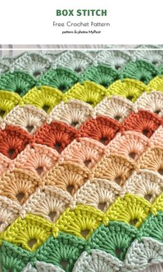 Box Stitch Free Crochet Pattern The Box Stitch is very original and so beautiful! It certainly deserves to be even more popular among crocheters than it is righ Crochet Crafts, Crochet Yarn, Crochet Projects, Crochet Stitches Patterns, Stitch Patterns, Knitting Patterns, All Free Crochet, Learn To Crochet, Crochet Box Stitch