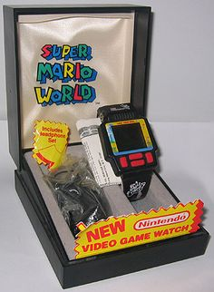 Watches like this were a sign of a true gamer/geek from yester year.  They were cool to have as a kid. Casio and others made their own game watches as well.  #gaming #nintendo