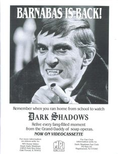 """Dark Shadows"" MPI Home Video Ad from Cinefantastique Magazine, Decemeber 1990"
