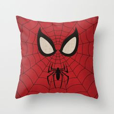 "Marvel Comic Store Superheroes Minimalist ""Spiderman"" Pillow Cover on Etsy, $34.00"