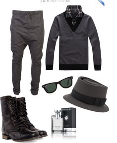 """""""Shades of Grey"""" by vinicius-barreto ❤ liked on Polyvore"""