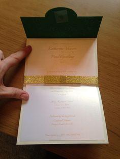 Gorgeous handmade invites