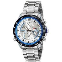 Curren Silver Stainless Steel Men Watch Analog Display Date Quartz Watch Military Watch Men Wristwatch