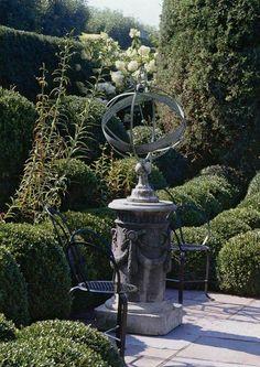 Armillary Sphere On Pedestal    Oscar And Annette De La Rentau0027s Garden In  Kent Connecticut
