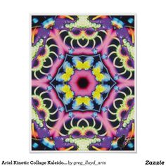 Ariel Kinetic Collage Kaleidoscope Poster
