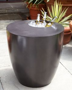 Beverage Cooler Side Table at Neiman Marcus. Nice and gotta have it.