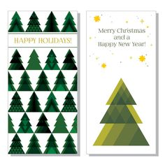 Christmas Trees Vector Graphic - DryIcons