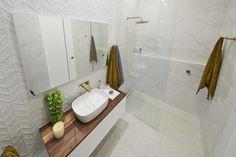 The Block 2019 Oslo: Main bathroom reveals Ensuite Bathrooms, Bathroom Renos, Master Bathroom, Bathroom Ideas, Bathroom Inspiration, Boho Bathroom, Industrial Bathroom, The Block Room Reveals, The Block Bathroom