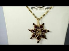 Snowflake Pendant Making – gyöngy – Jewelry Tiffany Jewelry, Opal Jewelry, Diy Jewelry, Beaded Jewelry, Jewelry Design, Beading Tutorials, Beading Patterns, Gold Armband, Star Necklace