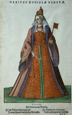 ITALIEN VENEDIG ALTKOLORIERT HOLZSCHNITT AMMAN WEIGEL KOSTÜME TRACHTEN BUCH 1577   eBay