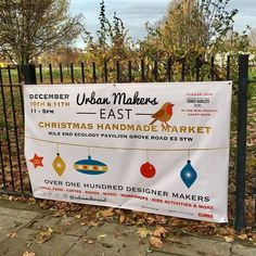 Banners are up! #urbanmakerseast #eastlondon #shoplocal #thevents
