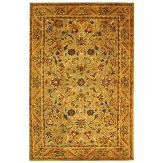 Safavieh Antiquity Collection AT52A Handmade Olive and Gold Wool Area Rug, 6 feet by 9 feet (6′ x 9′) #handmade Safavieh Antiquity Collection AT52A Handmade Olive and Gold Wool Area Rug, 6 feet by 9 feet (6′ x 9′) Safavieh's Antiquities Collection evokes the old world style and quality with modern hand tufting techniques. These rugs bring traditional sophistication and the authentic look and feel of 19th century Persian rugs. These rugs are made from 100% premium, hand-spun wool, and..