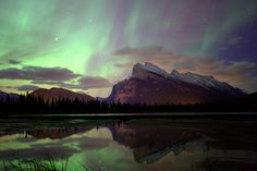 Aurora Borealis over Banff by john  price on 500px