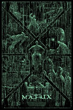 Cool Art: 'The Matrix' by Kilian Eng - illustrations Posters Geek, Cinema Posters, Film Posters, Sci Fi Movies, Action Movies, Foreign Movies, Indie Movies, Keanu Matrix, Minimalist Movie Posters
