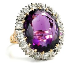 Signé Y 925 Sterling Argent 3 Violet Amethyst /& White Topaz Ring Taille 5