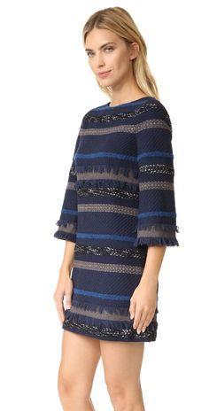 alice + olivia Evelina Bell Sleeve A Line Dress | SHOPBOP