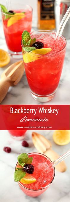 Blackberry Whiskey Lemonade via @creativculinary