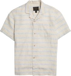 Reserve Collection Traditional Fit Stripe Campshirt