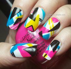 The Digit-Al Dozen Does Decades - The - Finger Food . The Digit-al Dozen does Decades - The - Finger Food nail design - Nail Desing 1980s Nails, Hair And Nails, My Nails, Food Nail Art, Vintage Nails, Nails Only, Geometric Nail, Neon Nails, Nail Decorations