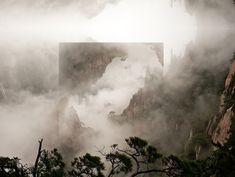 Reflexões geométricas em paisagens abstratas criam novas realidadesZupi