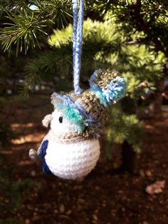 Snowman Christmas Tree Ornament Milk-Silk and Cotton