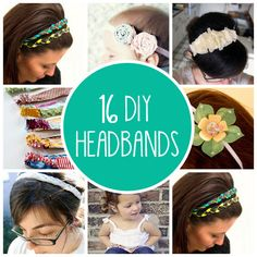 16 DIY Headbands -- making some of these for the girls this summer Check out the website for more. Cute Crafts, Crafts To Do, Diy Crafts, Diy Headband, Knotted Headband, Flower Headbands, Fabric Headbands, Diy Inspiration, Do It Yourself Fashion