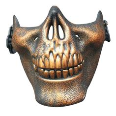 GUAngqi Halloween Skull Skeleton Half Face Skull Mask For Halloween, CS, Costume Party,Antique bronze Skeleton Halloween Costume, Halloween Skeletons, Halloween Skull, Halloween Masks, Halloween Party, Paintball Mask, Airsoft Mask, Latex, Half Face Mask