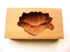 Lotus Flower  Vintage Japanese Kashigata Mold by VintageFromJapan, $55.00