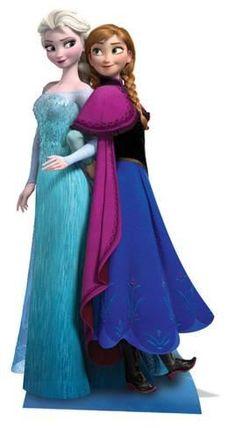 Anna & Elsa - Frozen Cardboard Cutouts - AllPosters.co.uk