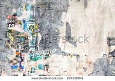 Old Billboard with Torn Posters. Background and Texture for text or image