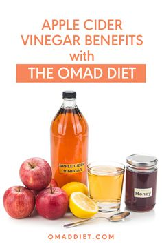 Apple cider vinegar is a great addition to your One Meal A Day Diet. Find out why this should be a part of your OMAD diet. Apple Cidar Vinegar, Apple Cider Vinegar Benefits, Omad Diet, One Meal A Day, Diet Recipes, Healthy Recipes, Diet Plans To Lose Weight Fast, Food Concept, Cooking Ingredients