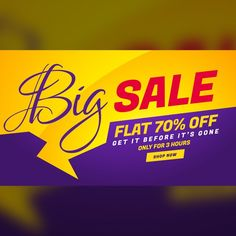 Yellow, red and purple discount voucher Free Vector